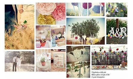 planche d'inspiration pour un mariage seasonpaper