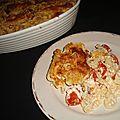 Gratin de pâtes au pesto rosso et au chorizo