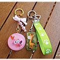 Collection <b>Kawai</b>/Mignon : Porte-clés girafe & Chouette