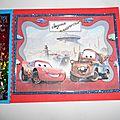 carte anniversaire Cars