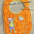 Couture : Le <b>bavoir</b> du Korrigan (ou mon premier