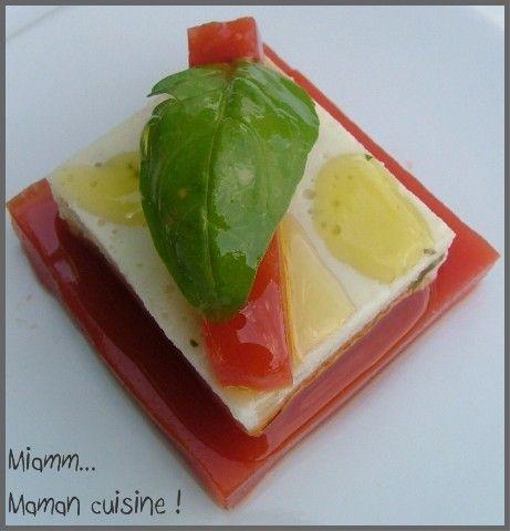 recettes entrees  Tomate / Mozzarella qui change !