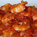 Crevettes à l'aigre-douce au micro ondes