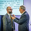 JEAN-JACQUES AILLAGON ET FREDERIC <b>FOUGERAT</b> - OFFICIER DE L'ORDRE NATIONAL DU MERITE