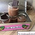 Flan chocolat, au lait de cacahuètes SANS LACTOSE ( 218 cal/ par pot)