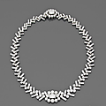 A diamond and platinum necklace circa 1960