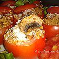 Tomates farci aux céréales et aux légumes