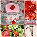Panna cotta  la fraise + dfi ARC- EN - CIEL pour la <b>couleur</b> <b>rouge</b>