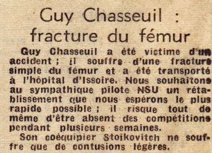 1966 - Rallye Limousin (Presse) Accident