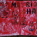 Challenge Artjournal et Gribouillages # 102 : matriochkas, # 101 : orage, et # 89 : rayures