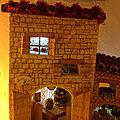 Village de Noël en polystyrène essai de décoration de nuit