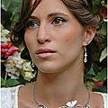 <b>Collier</b> pour la mariée ou son cortège papillon et perles Perlaminette