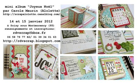 sneek peak mini album joyeux Noël RDVscrap