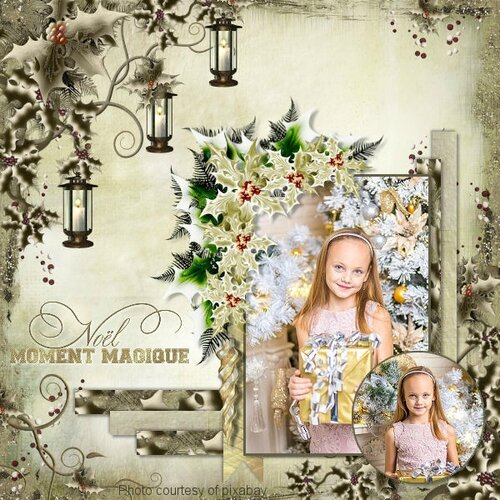 template Louise 2- page de Louise - kit The magic of Christmas