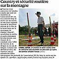 Country et Sécurité routière à la Montagne de Chelles