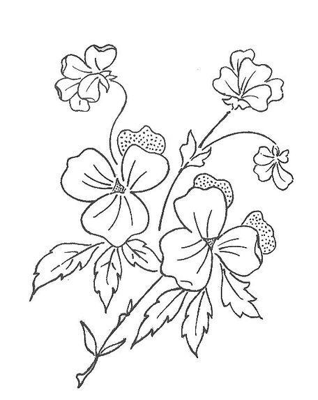 Plantilla de flores para pintar en tela - Imagui