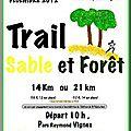 Saint Palais sur <b>mer</b> - 2 décembre 2012 -Trail sable et forêt