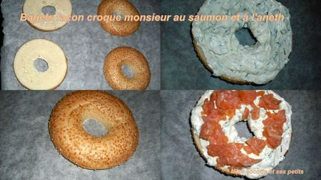 bagels facon croque monsieur au saumon et a l'aneth1
