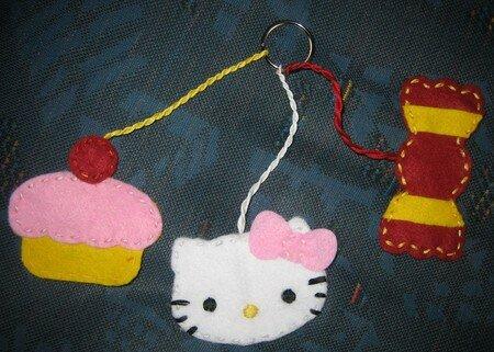 un porte-clef hello kitty 24536789_p