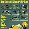Motorrad 12 juillet 1978, le grand test des meilleurs Kleinkrafträder