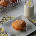 Muffins à l'orange et aux <b>amandes</b>, sans gluten et sans lactose
