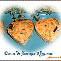 Petits coeurs de flan aux 3 <b>légumes</b> ... Joyeuse Saint-Valentin
