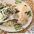 Recette au <b>rice</b> cooker #1 : Riz au lait de coco, épinards et poulet