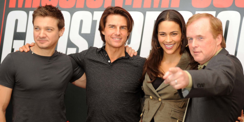 Jeremy Renner, Tom Cruise, Paula Patton et le réalisateur Brad Bird
