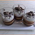 Verrines à la noisette, caramel & crème à la vanille