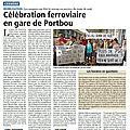 Célébration ferroviaire en gare de Portbou
