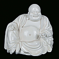 A Blanc de Chine porcelain sitting Budai, China, Dehua, Qing Dynasty, <b>18th</b> <b>century</b>