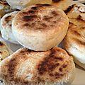 Mini Batbout, <b>pain</b> marocain cuit à la poêle.