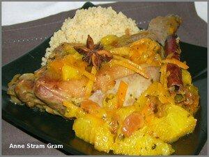 recettes plats  Cuisses de canard à lorange