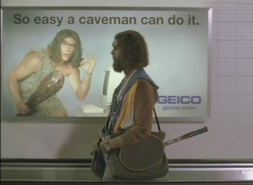 geico motorcycle insurance  cavemen commercial