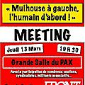 Invitation Front de Gauche... Propositions (Journal L'Alsace 9/03/14)