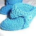 CHAUSSONS et BOTTINES pour bébé de la gamme bleue