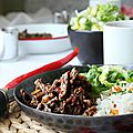 <b>Boeuf</b> séché à la chinoise au wok