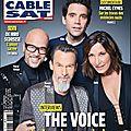 Pascal Obispo et les 3 autres coachs dans le magazine Télécable Sat du 22 janvier