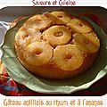 Gâteau antillais au rhum et à l'ananas, une douceur exquise!