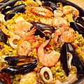 <b>paella</b> poisson et fruits de mer