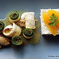 Filets de plie sauce à l'orange, riz et <b>courgettes</b> vapeur