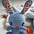 Crochet : <b>lapin</b> Amigurumi - kawaii amigurumi bunny