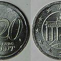 20 cent allemande en nickel