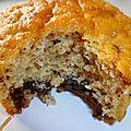 Les muffins sans oeufs au chocolat de Chrystel