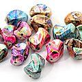 Lot de 20 grosses perles nacrées 23 mm