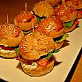 Mini burger au <b>saumon</b>
