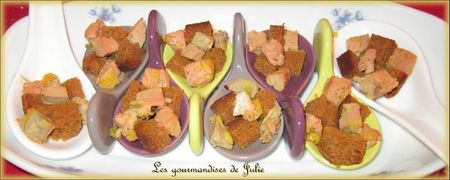 recettes  Cuillers apritives foie gras et pain dpices