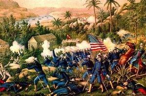 guerre-hispano-américaine-troupes-yankees-à-la-bataille-de-las-guasimas-le-24-juin-1898