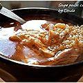 Soupe de poulet au couscous