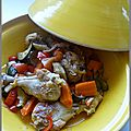 Tajine de <b>poulet</b> aux légumes